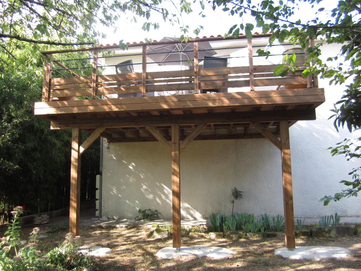 Terrasse bois sur poteaux