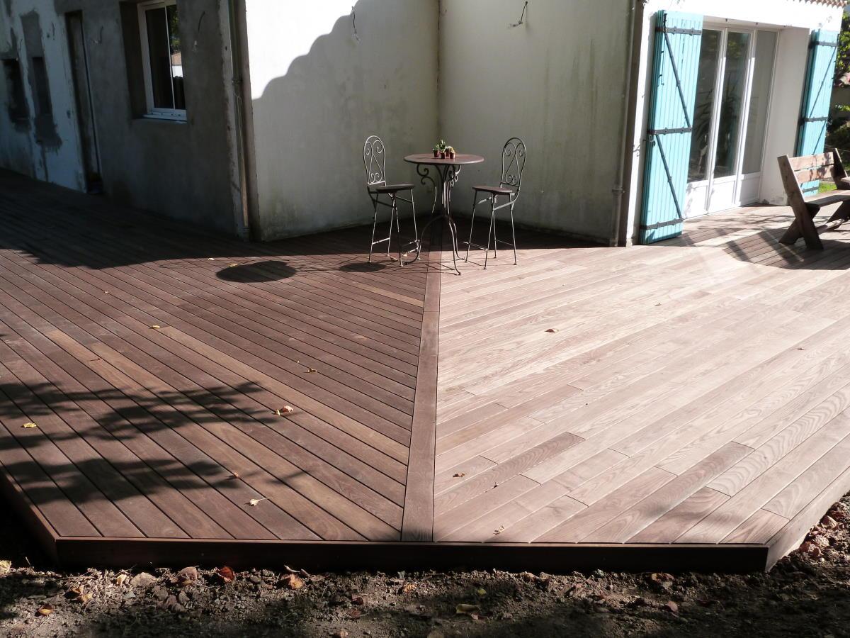 2 sens de pose des lames pour cette terrasse