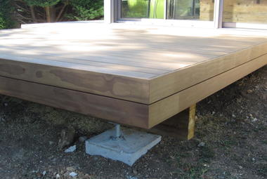 Pose de terrasse en bois