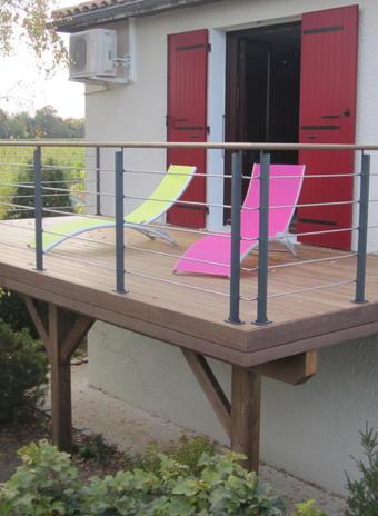Terrasse sur poteaux