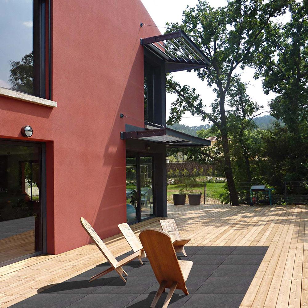 Création de terrasse en bois et grès cérame près de Rochefort